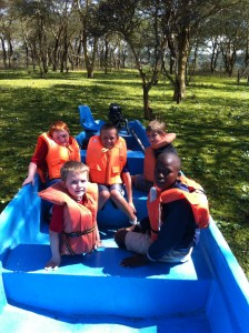 The boys in one of the boats.